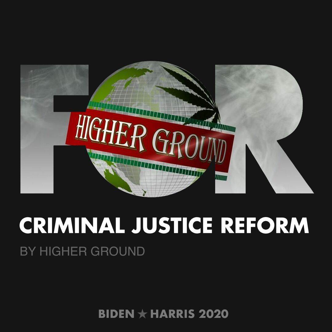 CreativesForBiden.org - Criminal Justice Reform artwork by Higher Ground