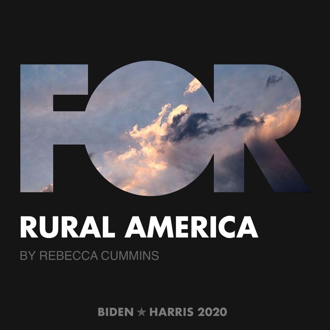 CreativesForBiden.org - Rural America artwork by Rebecca Cummins