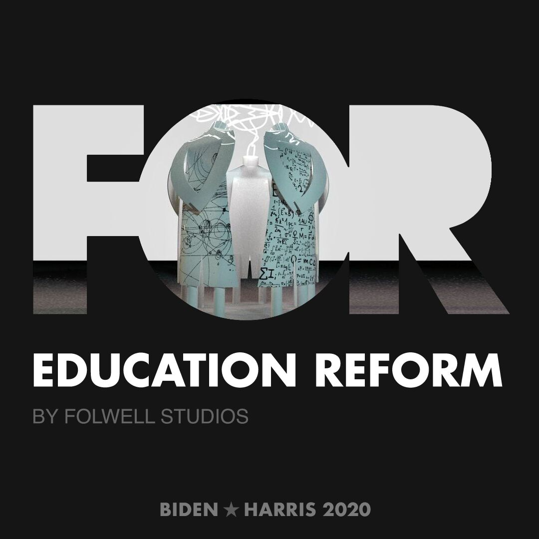 CreativesForBiden.org - Education Reform artwork by Folwell Studios