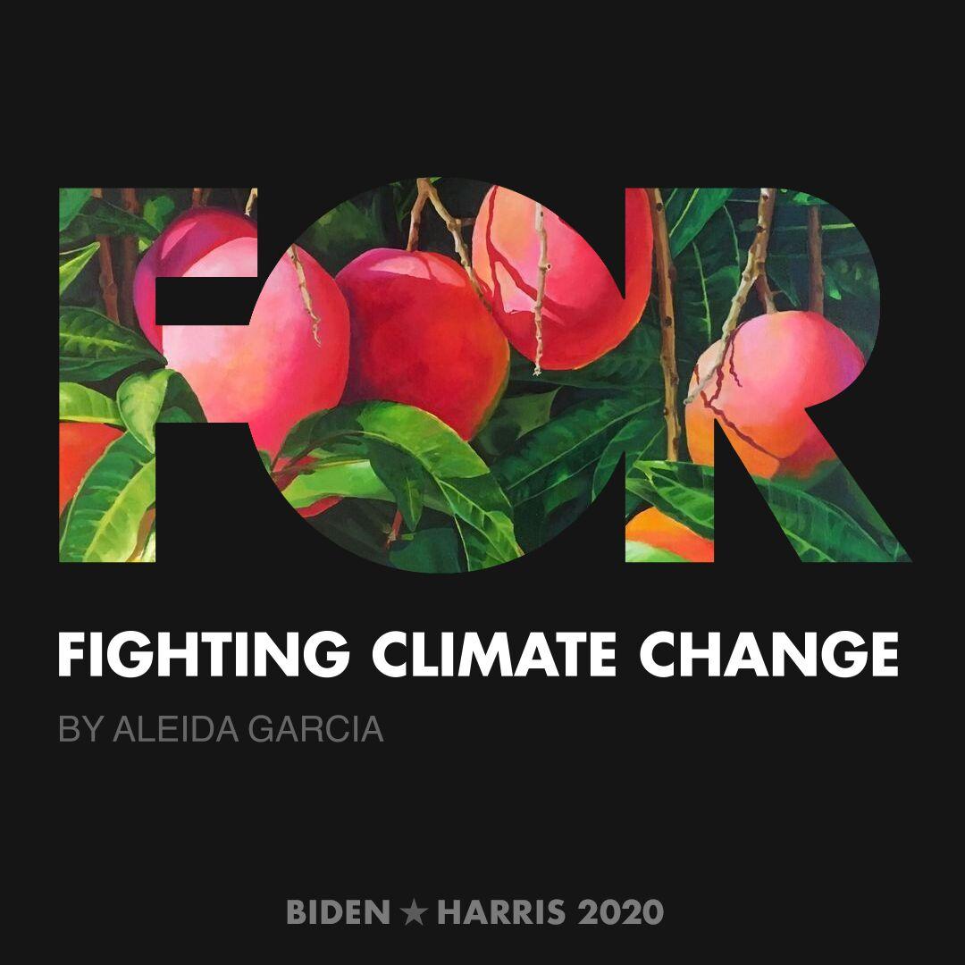 CreativesForBiden.org - Fighting Climate Change artwork by Aleida Garcia