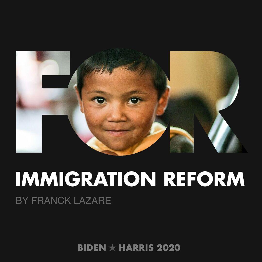 CreativesForBiden.org - Immigration Reform artwork by Franck Lazare