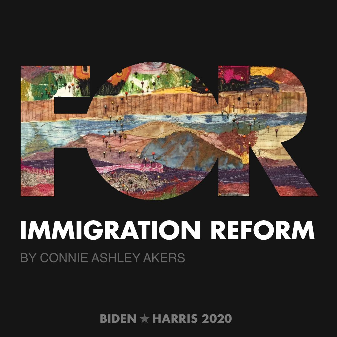 CreativesForBiden.org - Immigration Reform artwork by Connie Ashley Akers