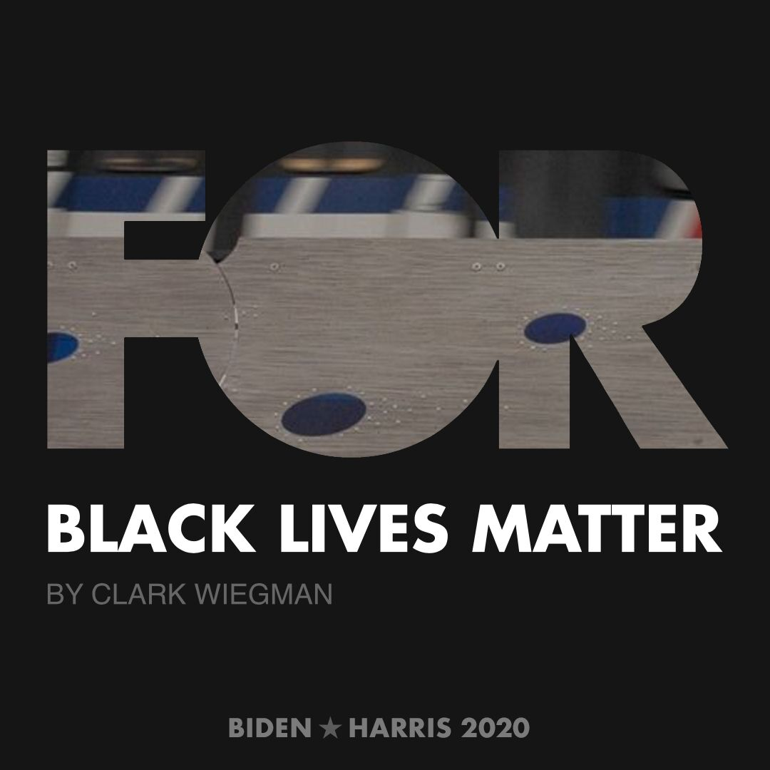 CreativesForBiden.org - Black Lives Matter artwork by Clark Wiegman