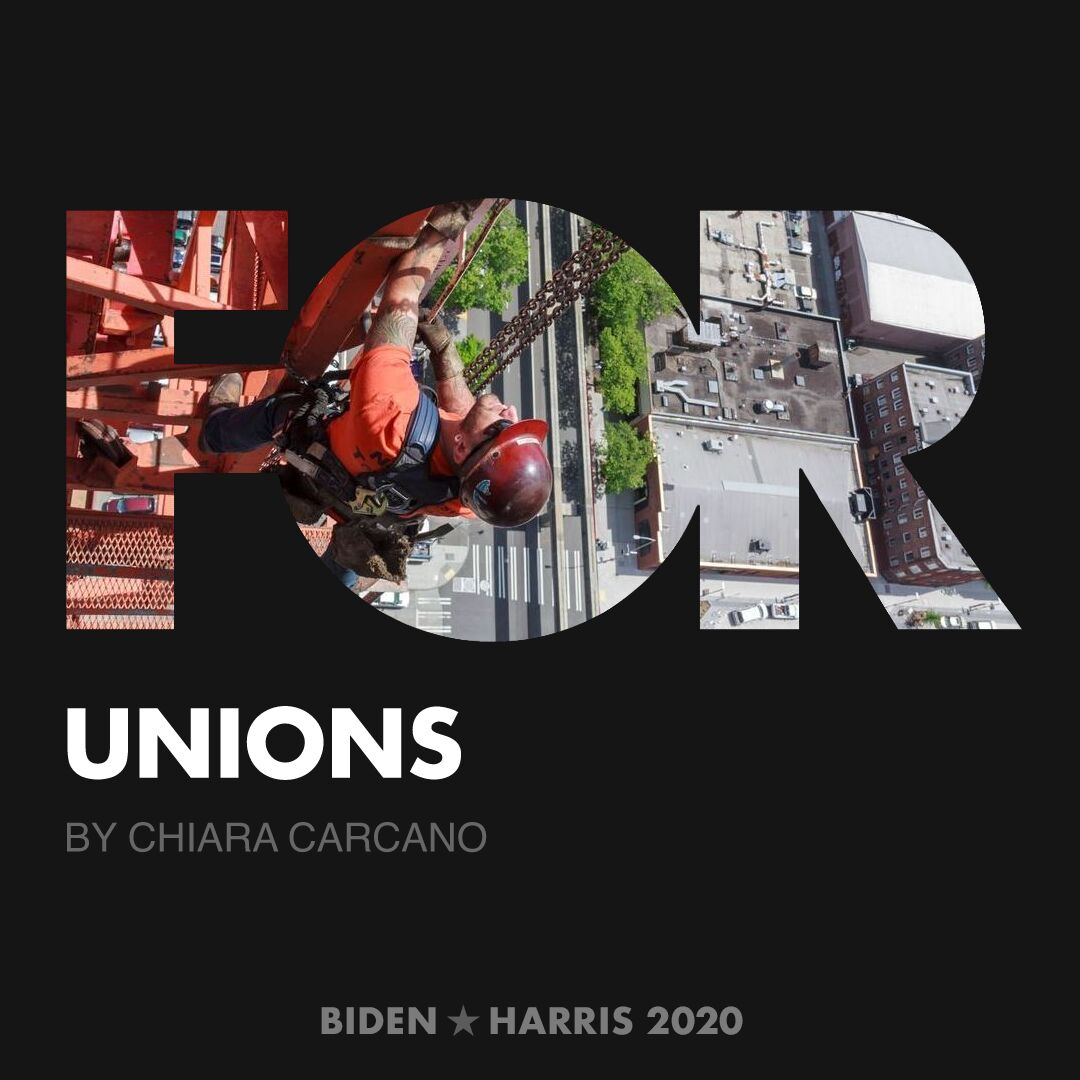 CreativesForBiden.org - Unions artwork by Chiara Carcano