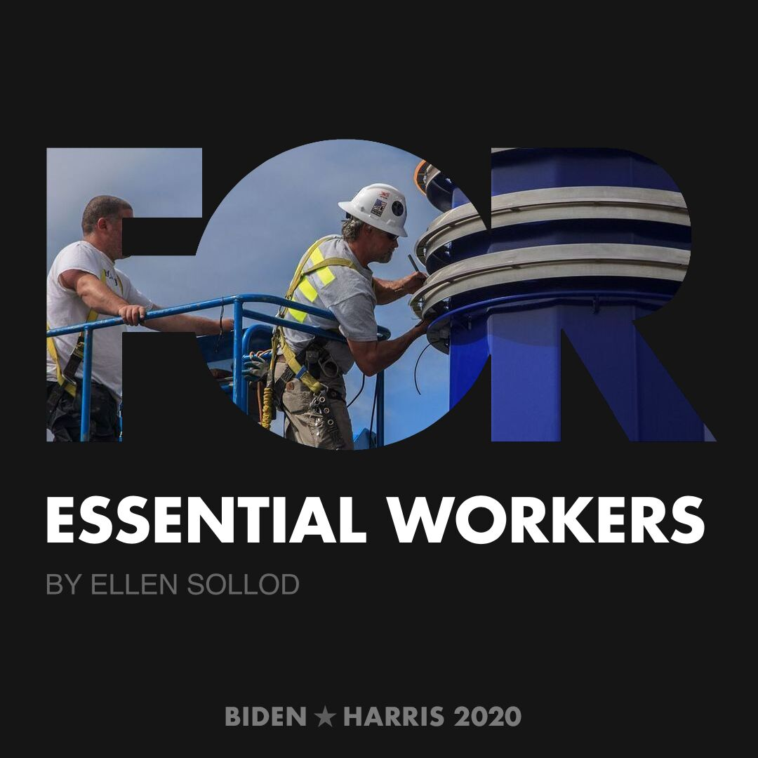 CreativesForBiden.org - Essential Workers artwork by Ellen Sollod
