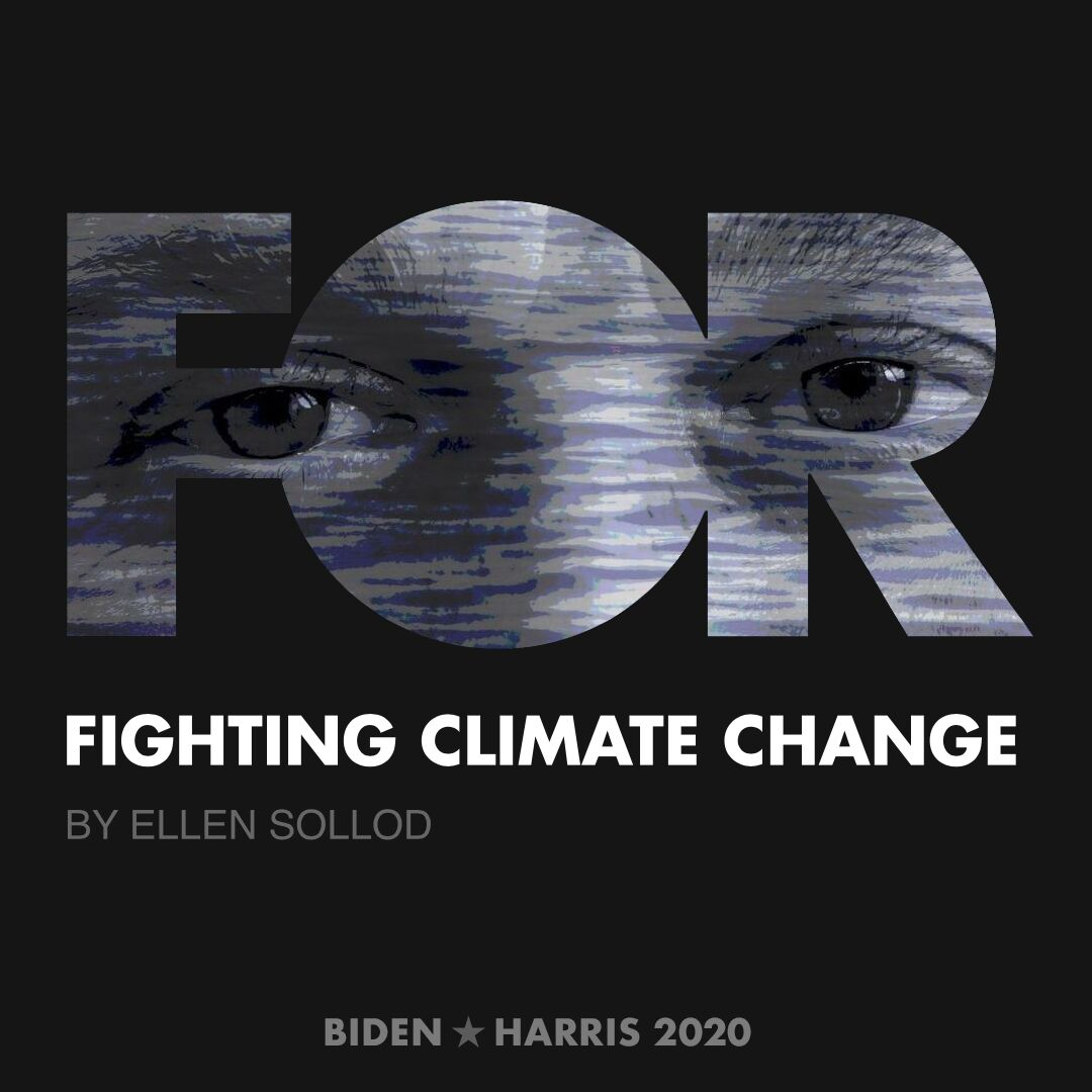 CreativesForBiden.org - Fighting Climate Change artwork by Ellen Sollod