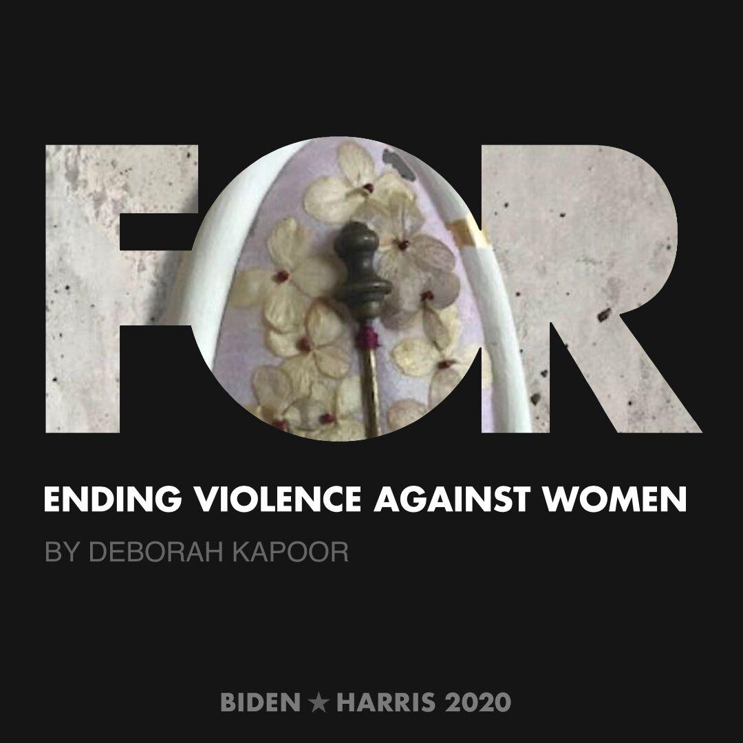 CreativesForBiden.org - Ending Violence Against Women artwork by Deborah Kapoor