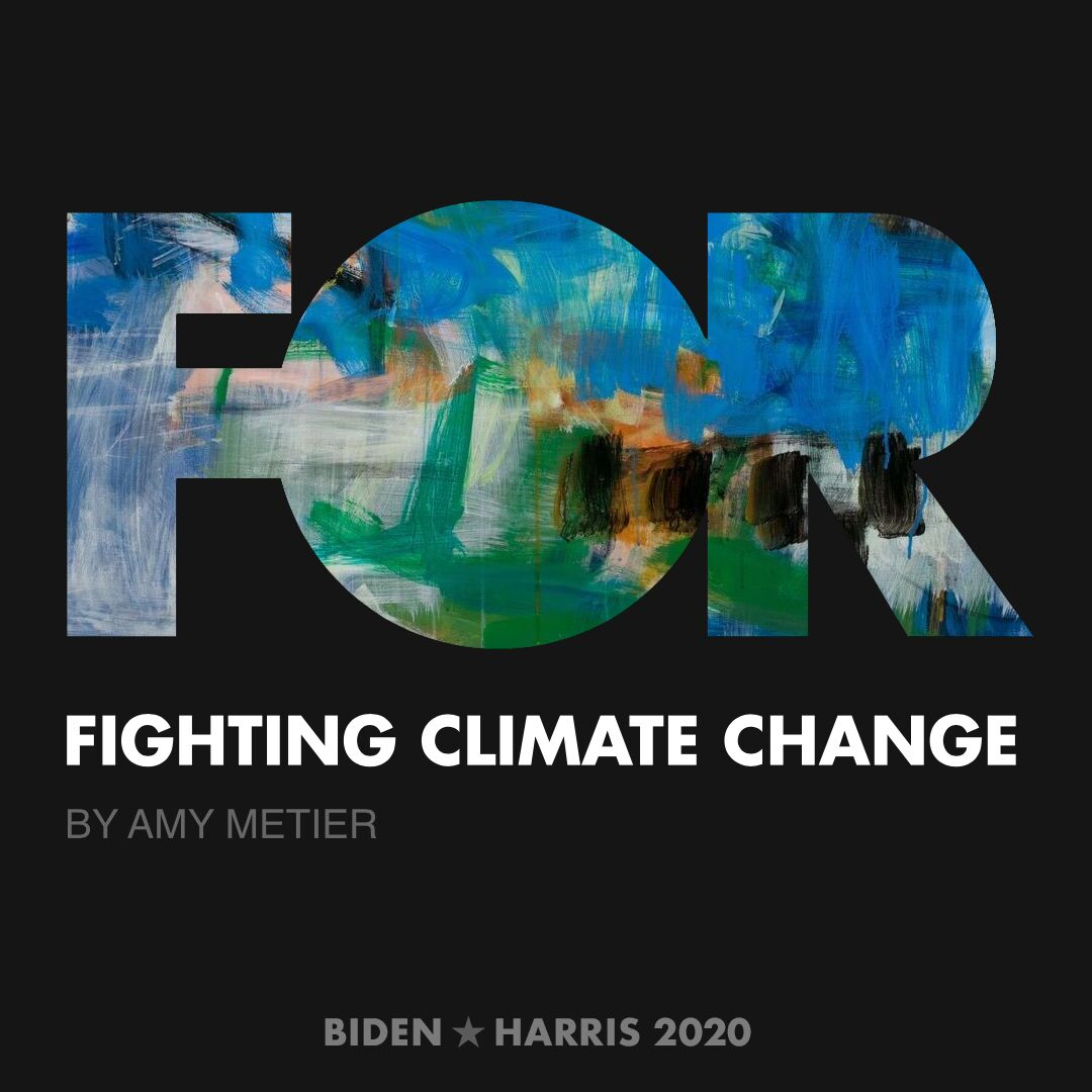 CreativesForBiden.org - Fighting Climate Change artwork by Amy Metier