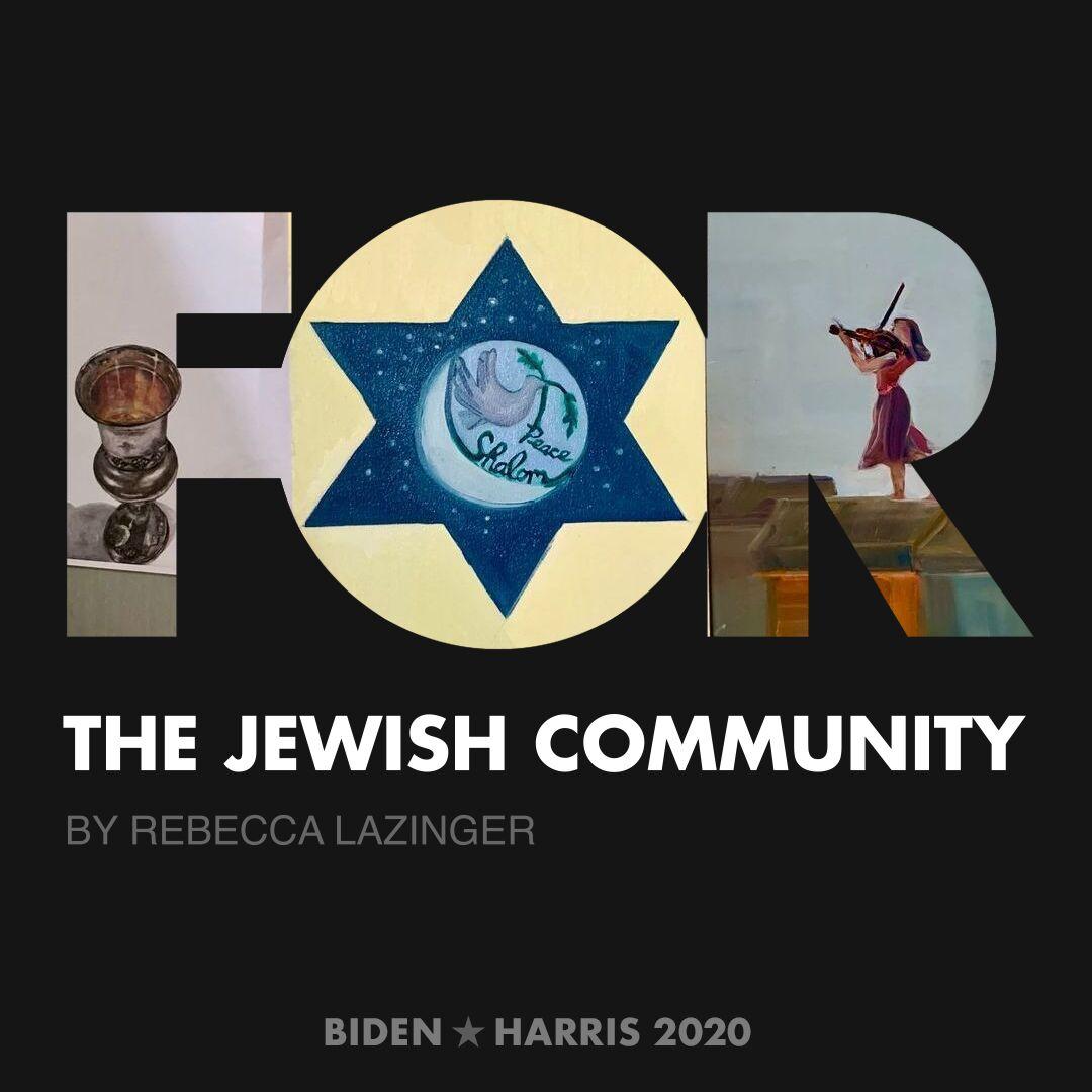 CreativesForBiden.org - The Jewish Community artwork by Rebecca Lazinger