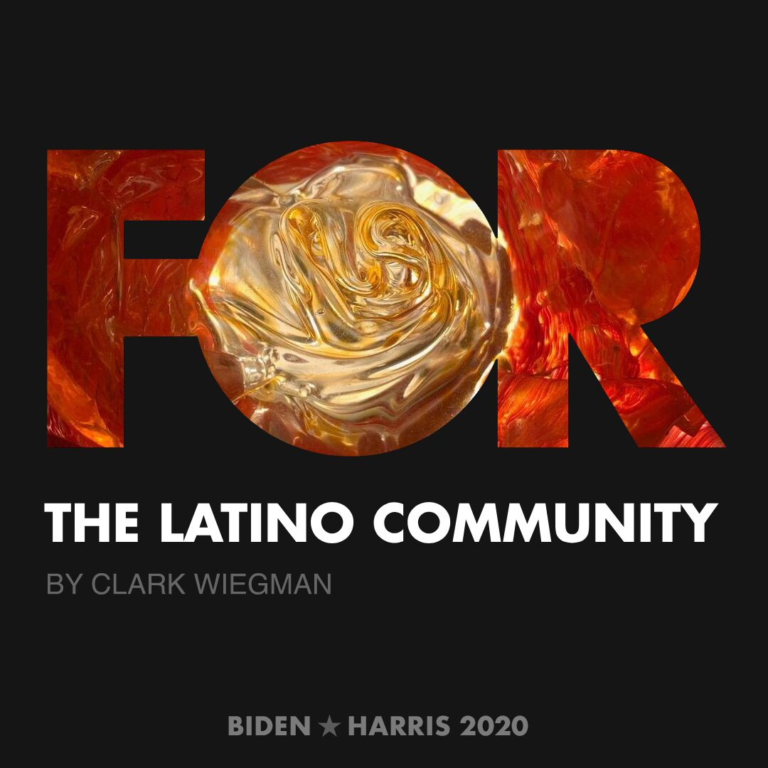 CreativesForBiden.org - The Latino Community artwork by Clark Wiegman