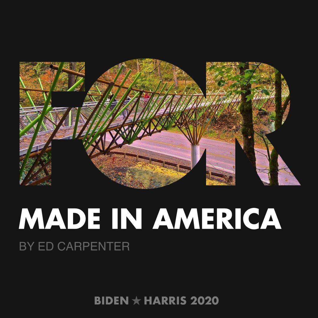 CreativesForBiden.org - Made in America artwork by Ed Carpenter