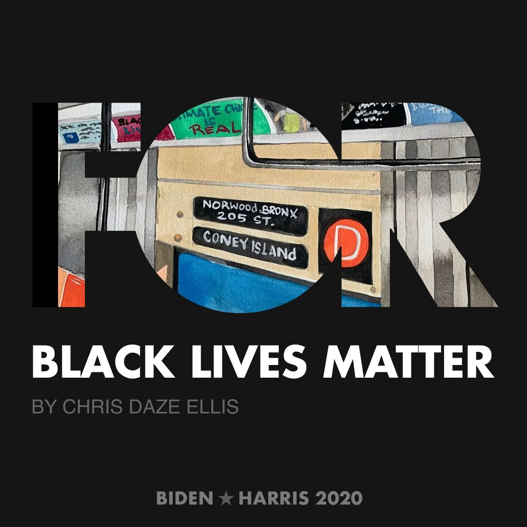 CreativesForBiden.org - Black Lives Matter artwork by Chris Daze Ellis