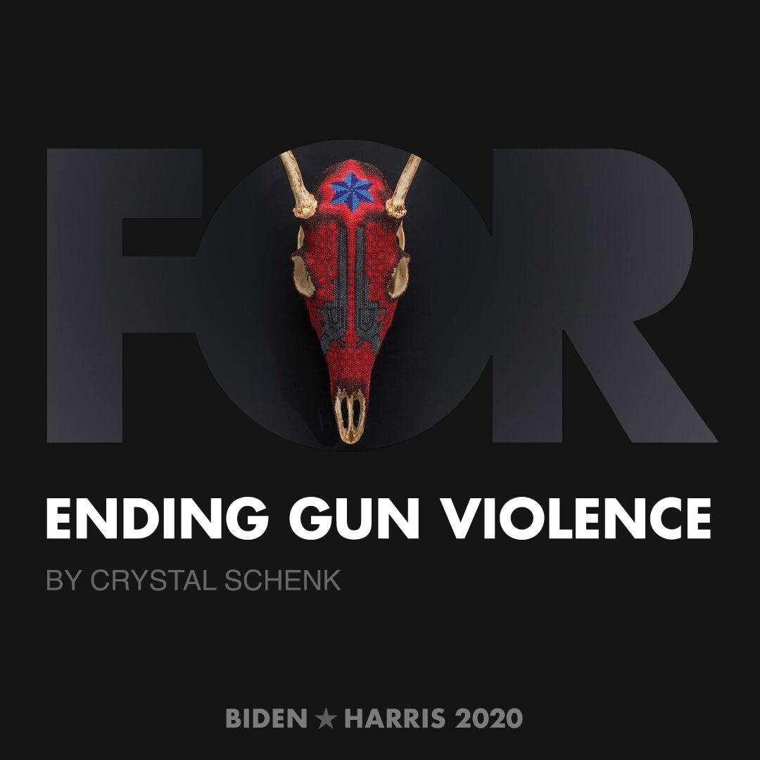 CreativesForBiden.org - Ending Gun Violence artwork by Crystal Schenk