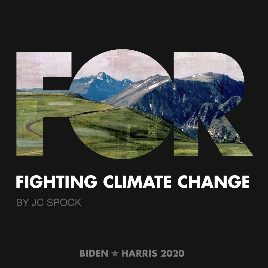 CreativesForBiden.org - Fighting Climate Change artwork by JC Spock
