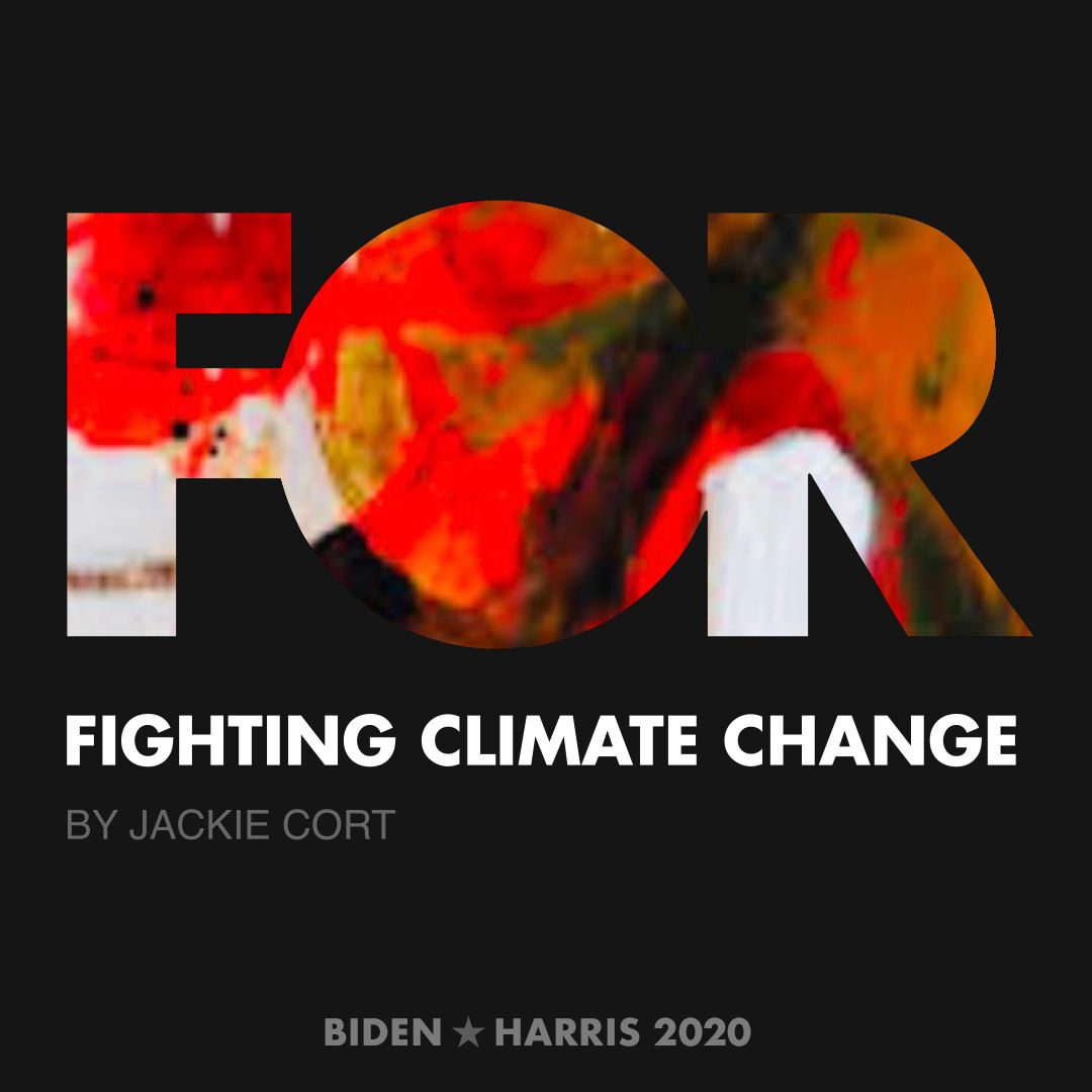 CreativesForBiden.org - Fighting Climate Change artwork by Jackie Cort