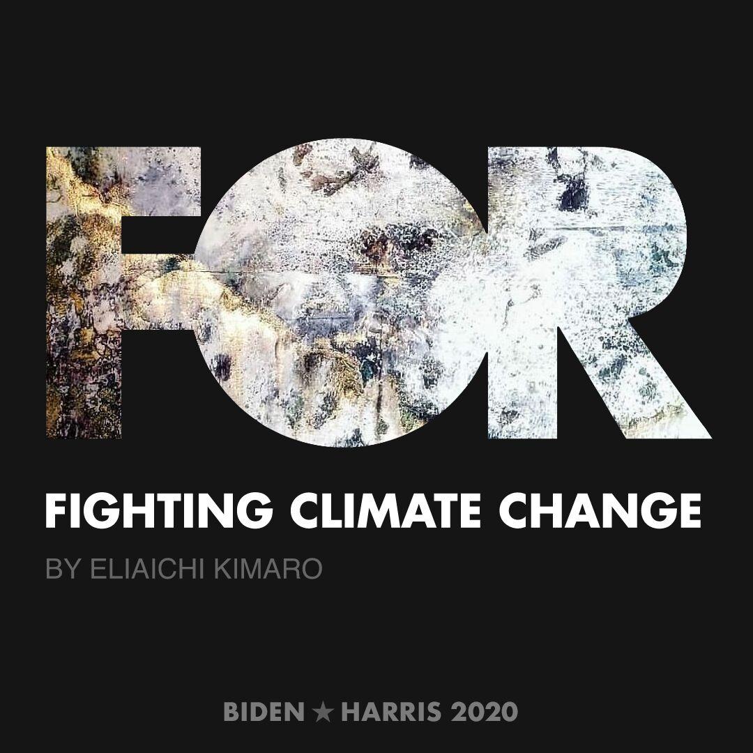 CreativesForBiden.org - Fighting Climate Change artwork by Eliaichi Kimaro