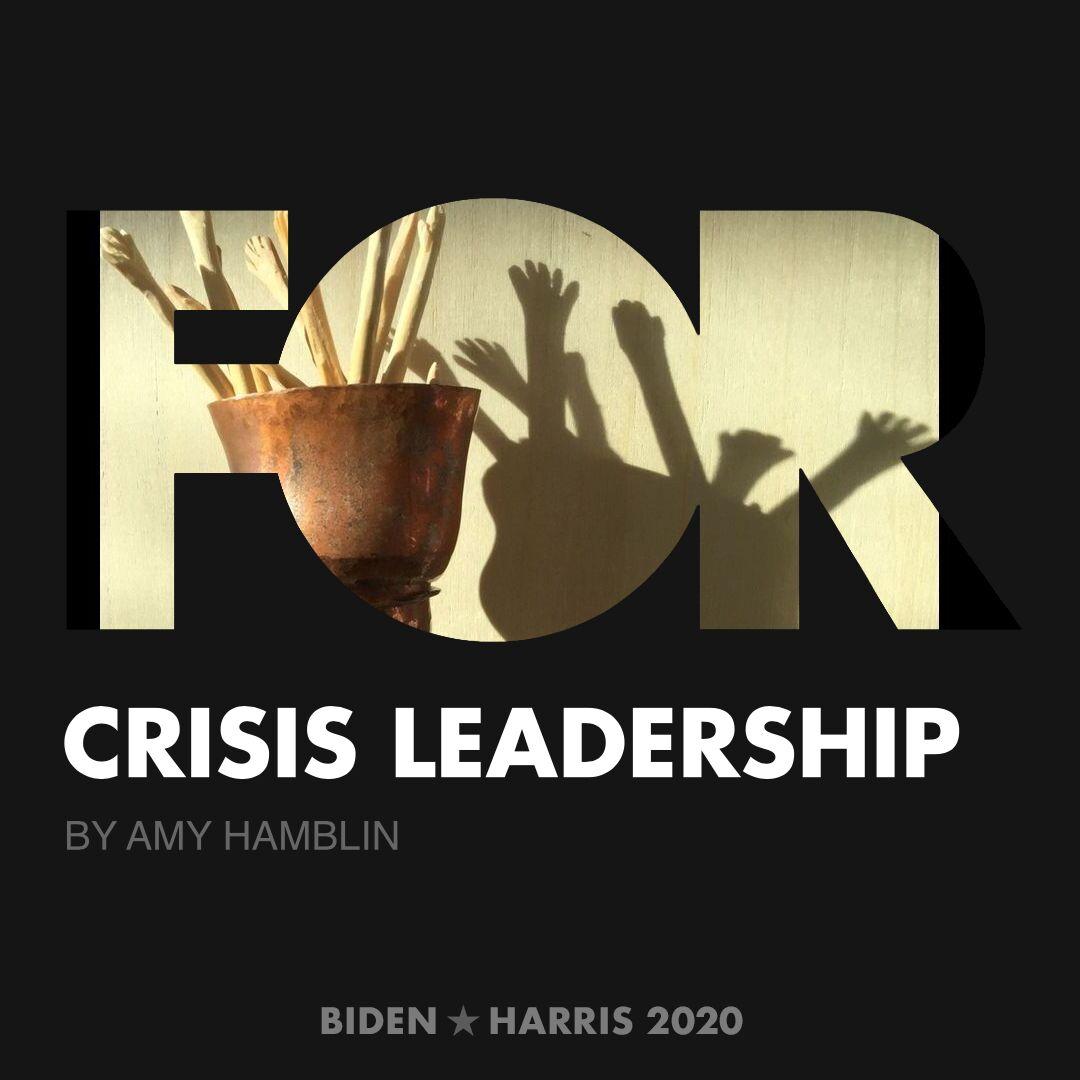 CreativesForBiden.org - Crisis Leadership artwork by Amy Hamblin