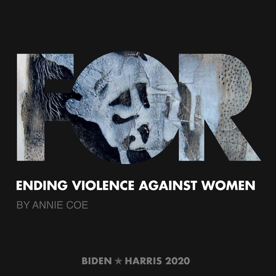 CreativesForBiden.org - Ending Violence Against Women artwork by Annie Coe