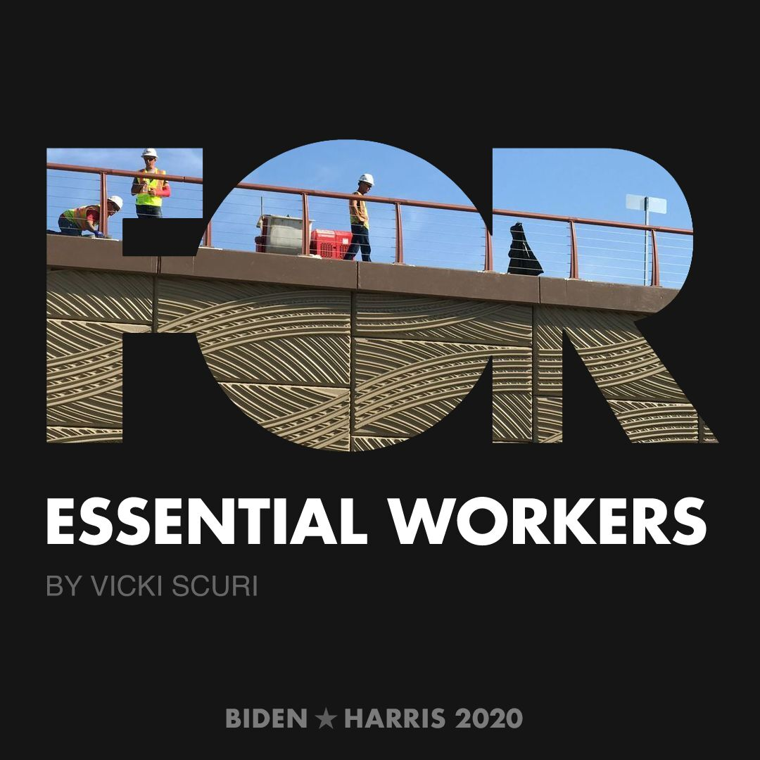 CreativesForBiden.org - Essential Workers artwork by Vicki Scuri