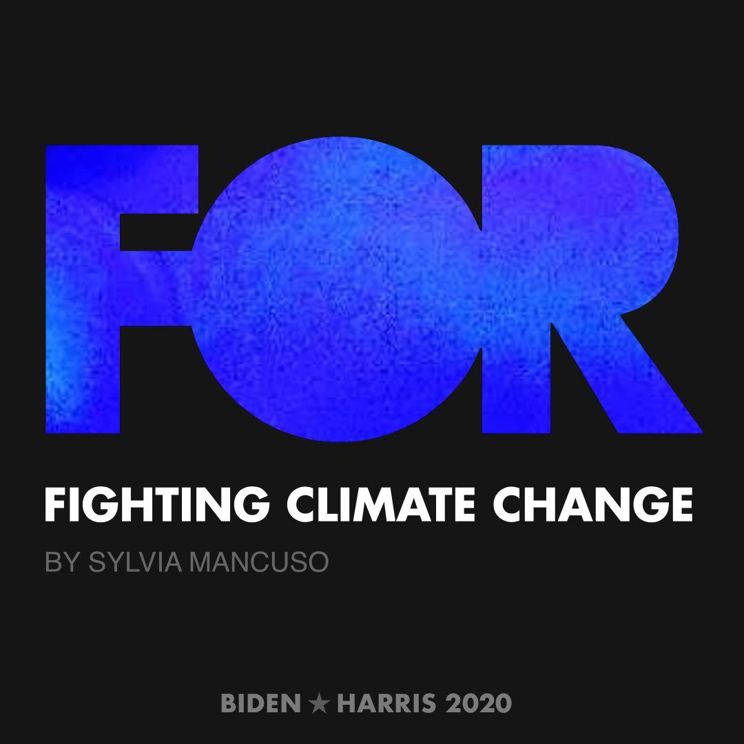 CreativesForBiden.org - Fighting Climate Change artwork by Sylvia Mancuso
