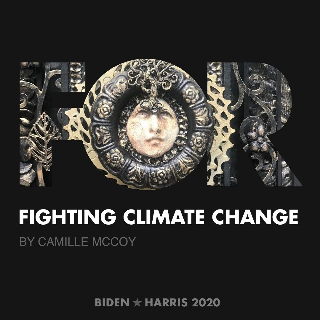 CreativesForBiden.org - Fighting Climate Change artwork by Camille McCoy