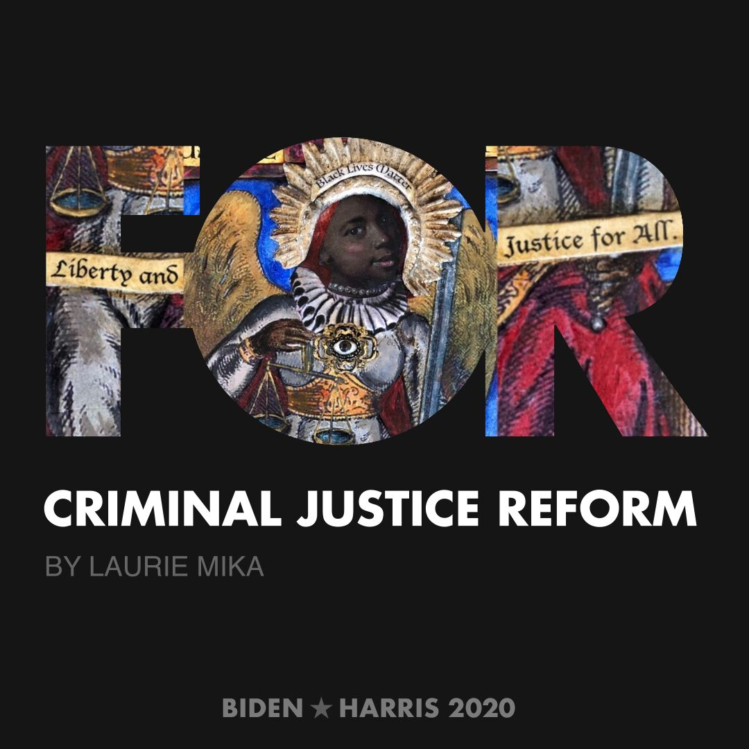 CreativesForBiden.org - Criminal Justice Reform artwork by Laurie Mika
