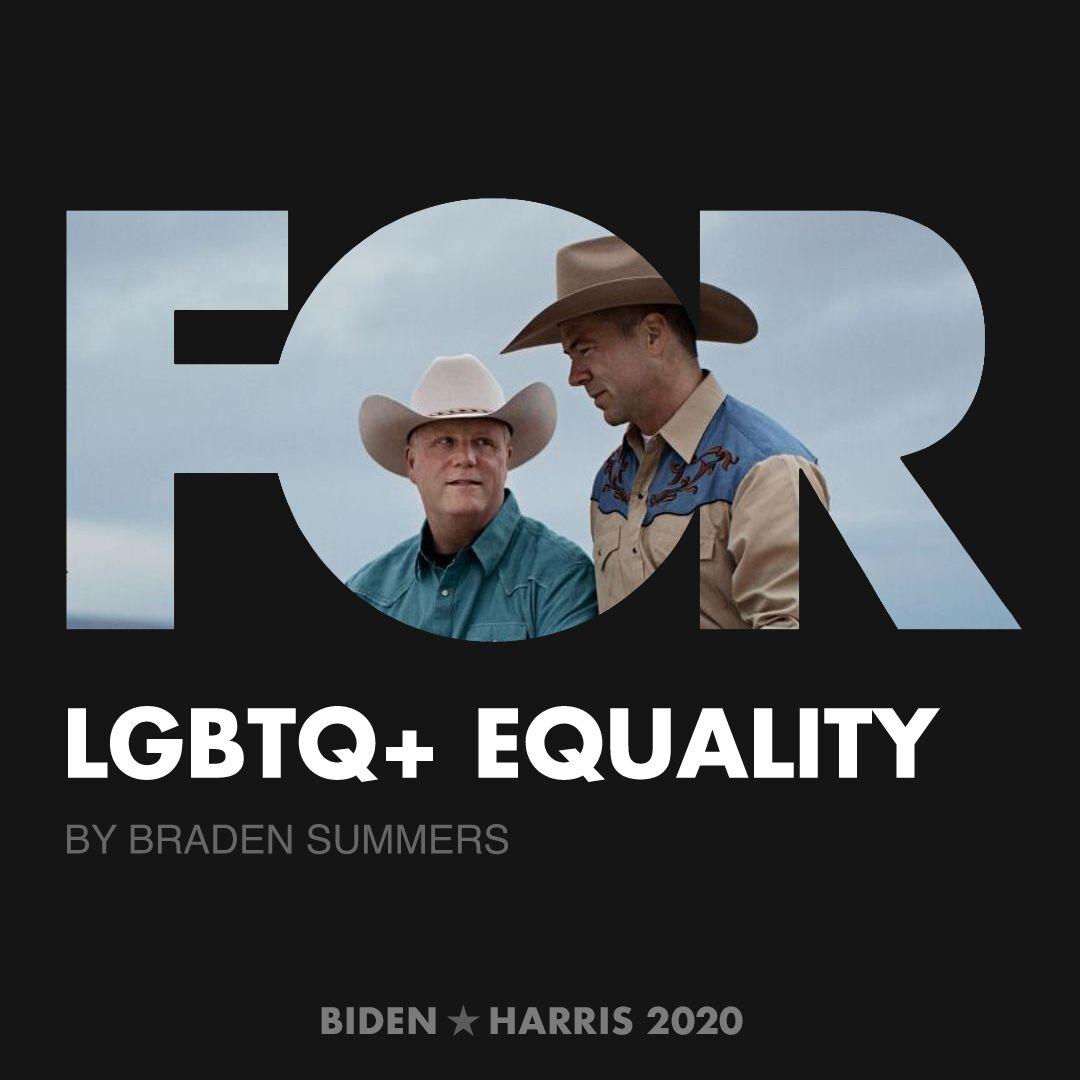 CreativesForBiden.org - LGBTQ+ Equality artwork by Braden Summers