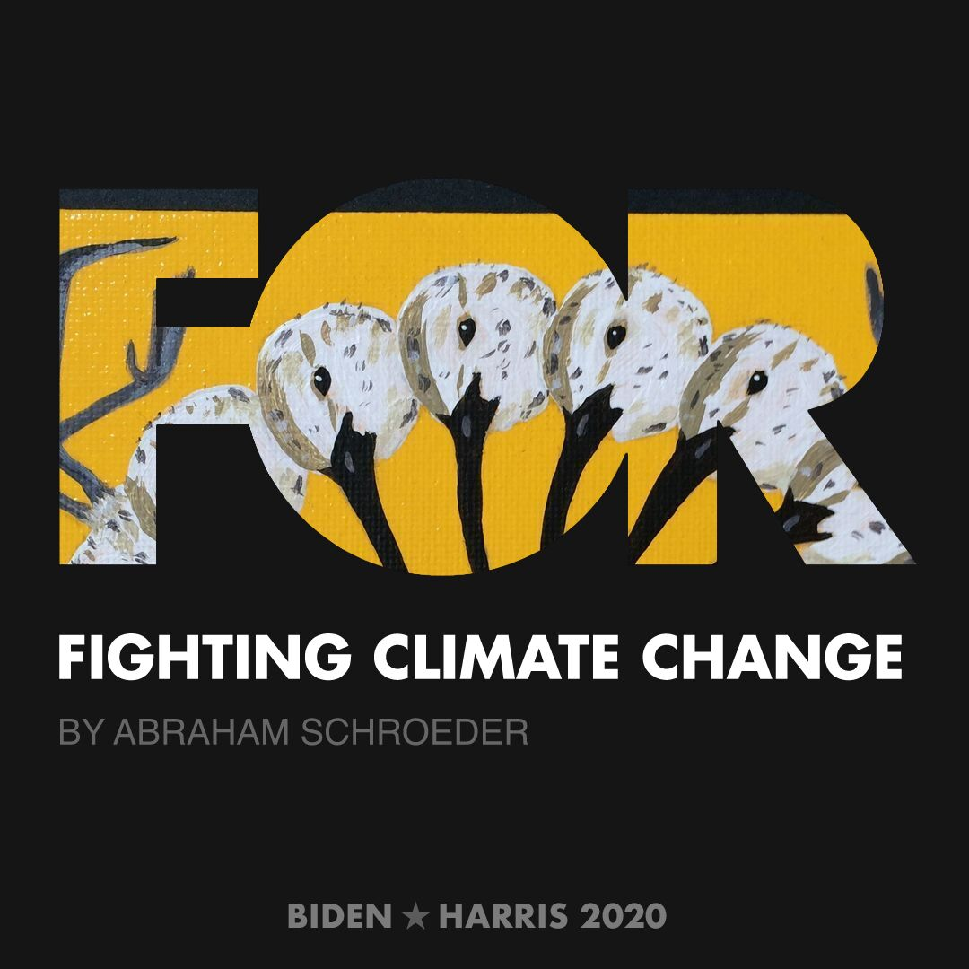 CreativesForBiden.org - Fighting Climate Change artwork by Abraham Schroeder
