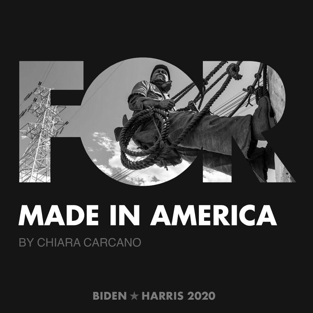 CreativesForBiden.org - Made in America artwork by Chiara Carcano