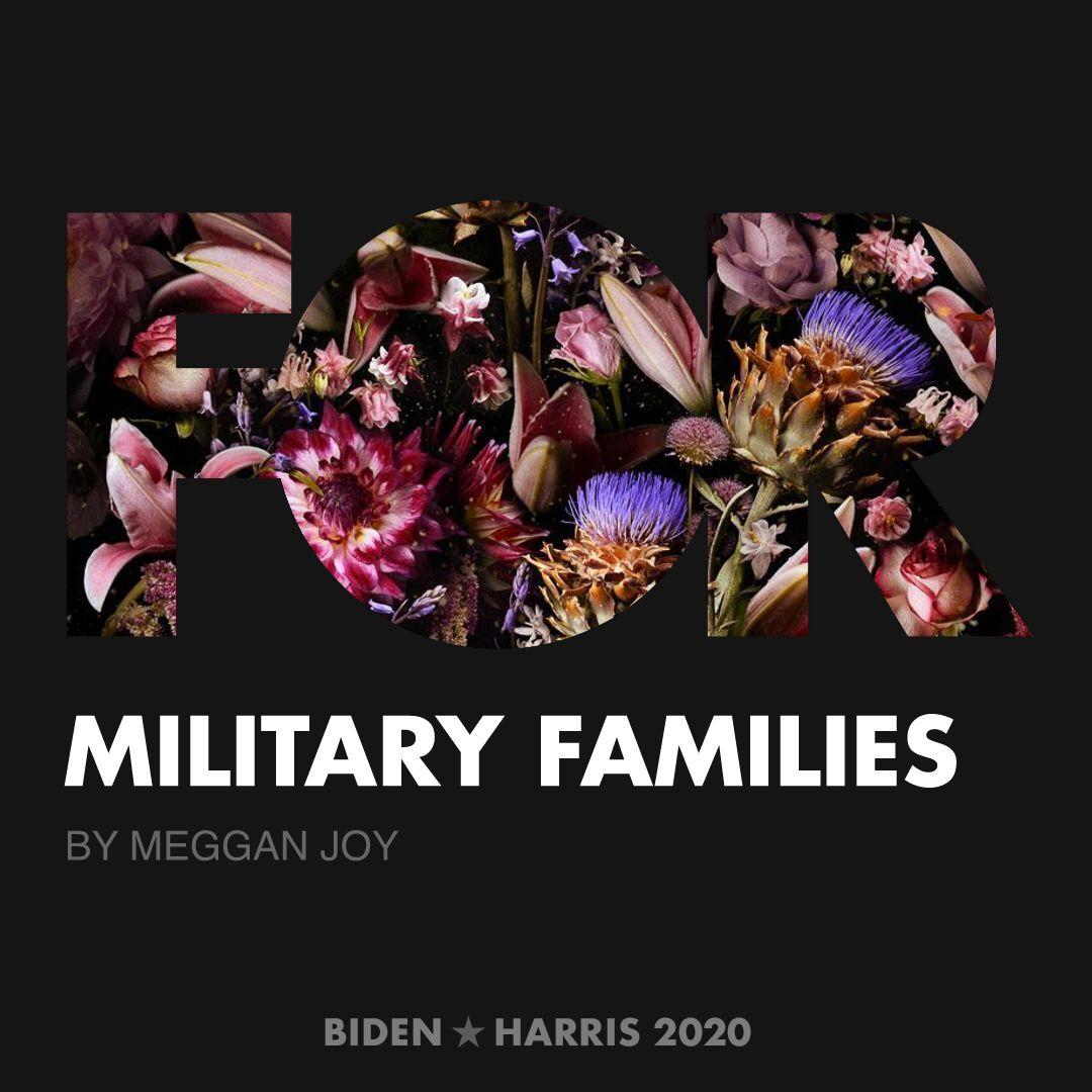 CreativesForBiden.org - Military Families artwork by Meggan Joy