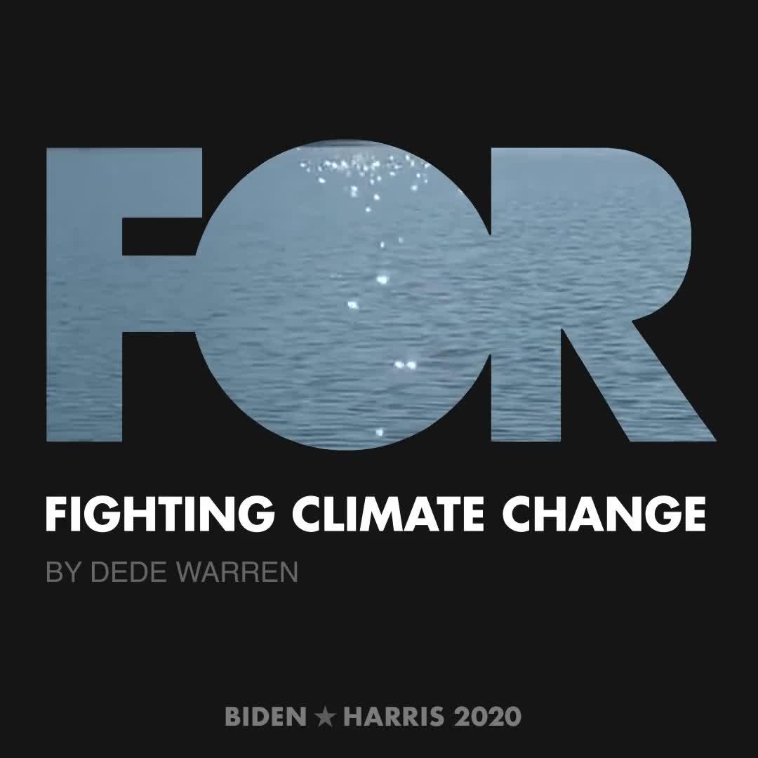 CreativesForBiden.org - Fighting Climate Change artwork by Dede Warren