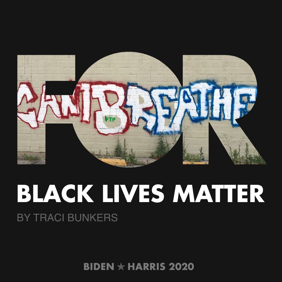 CreativesForBiden.org - Black Lives Matter artwork by Traci Bunkers
