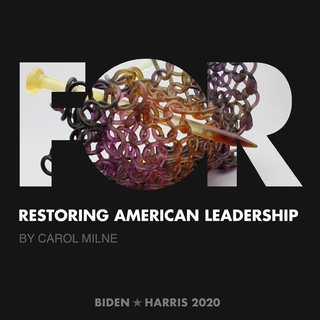 CreativesForBiden.org - Restoring American Leadership artwork by Carol Milne
