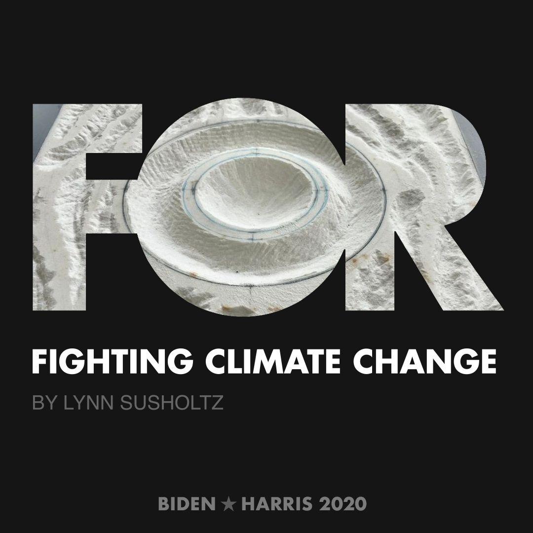 CreativesForBiden.org - Fighting Climate Change artwork by Lynn Susholtz