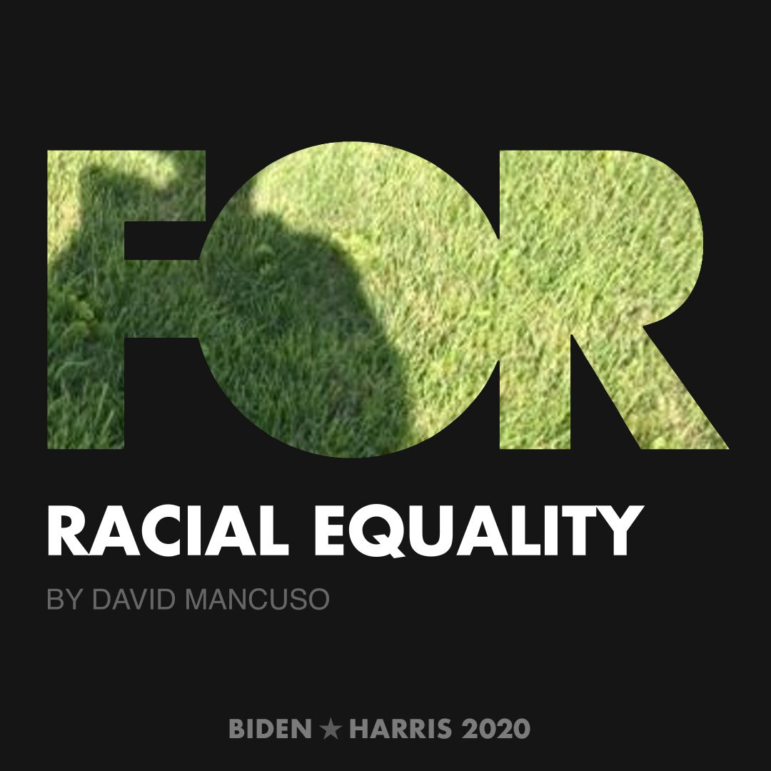 CreativesForBiden.org - Racial Equality artwork by David Mancuso