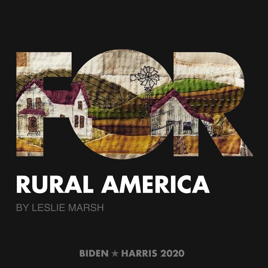 CreativesForBiden.org - Rural America artwork by Leslie Marsh