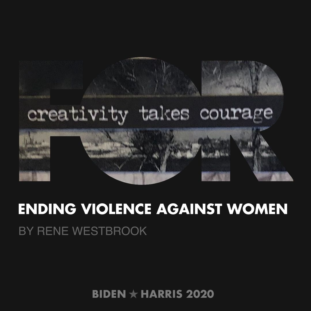 CreativesForBiden.org - Ending Violence Against Women artwork by Rene Westbrook