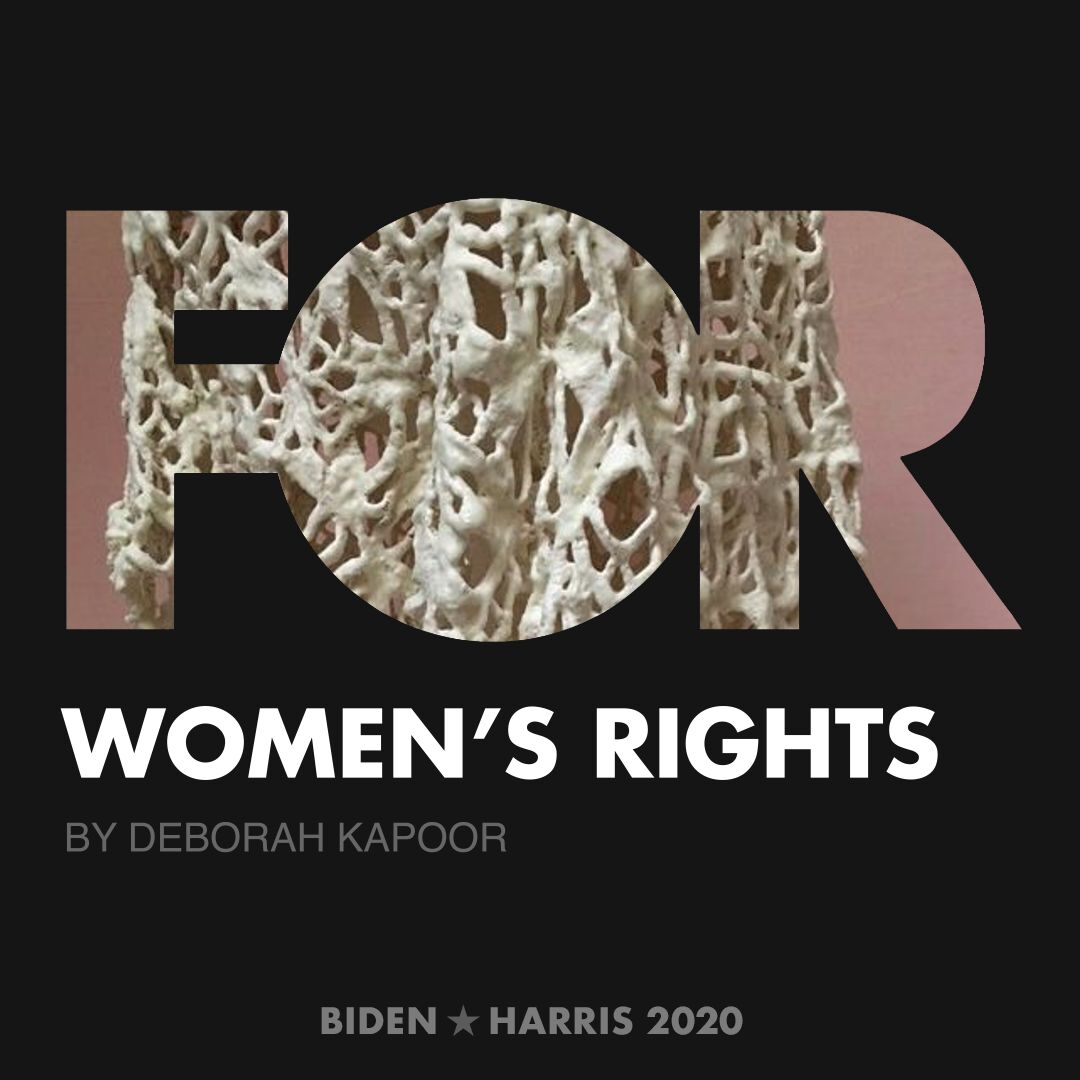 CreativesForBiden.org - Women's Rights artwork by Deborah Kapoor