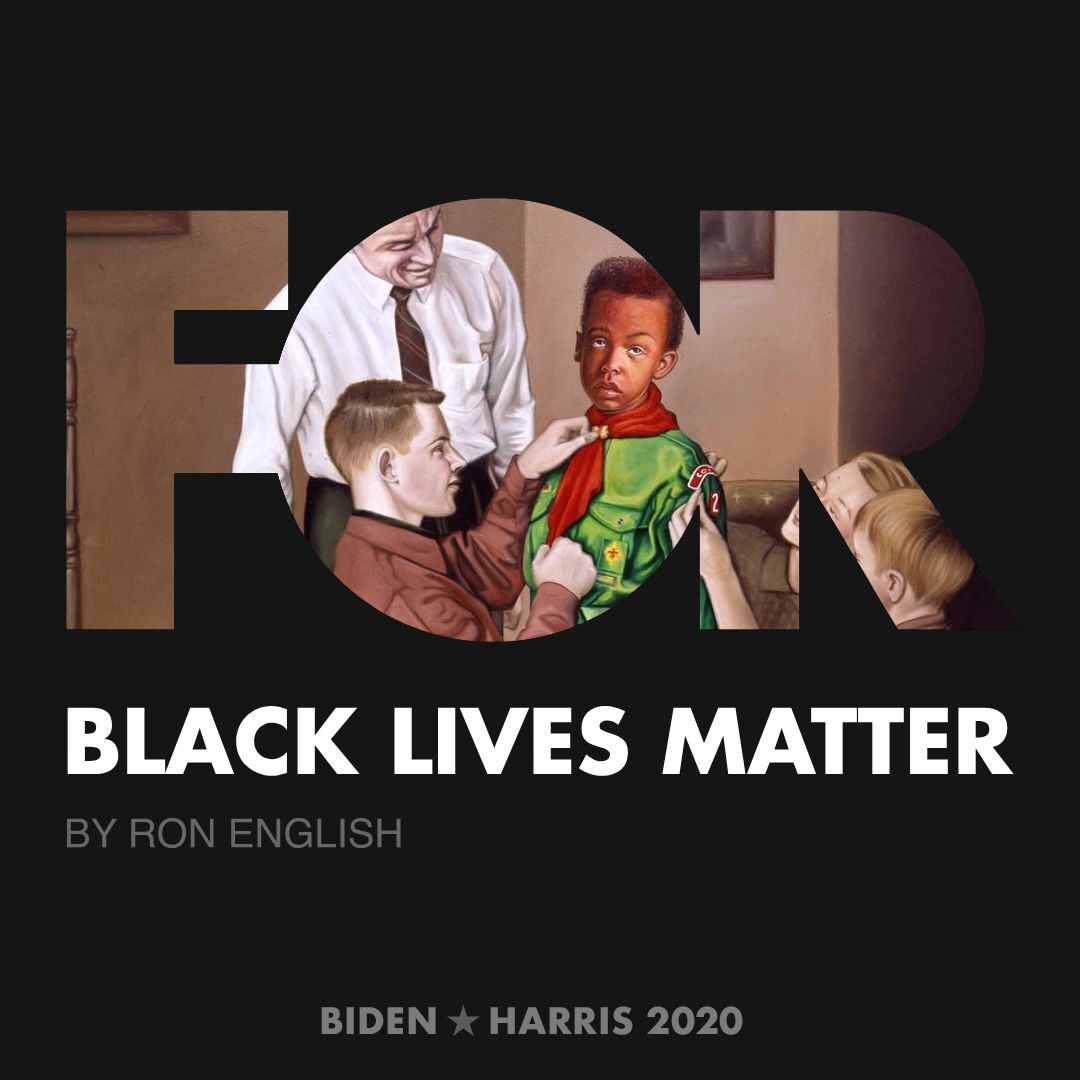 CreativesForBiden.org - Black Lives Matter artwork by Ron English