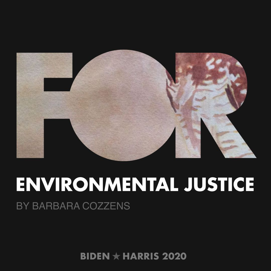 CreativesForBiden.org - Environmental Justice artwork by Barbara Cozzens