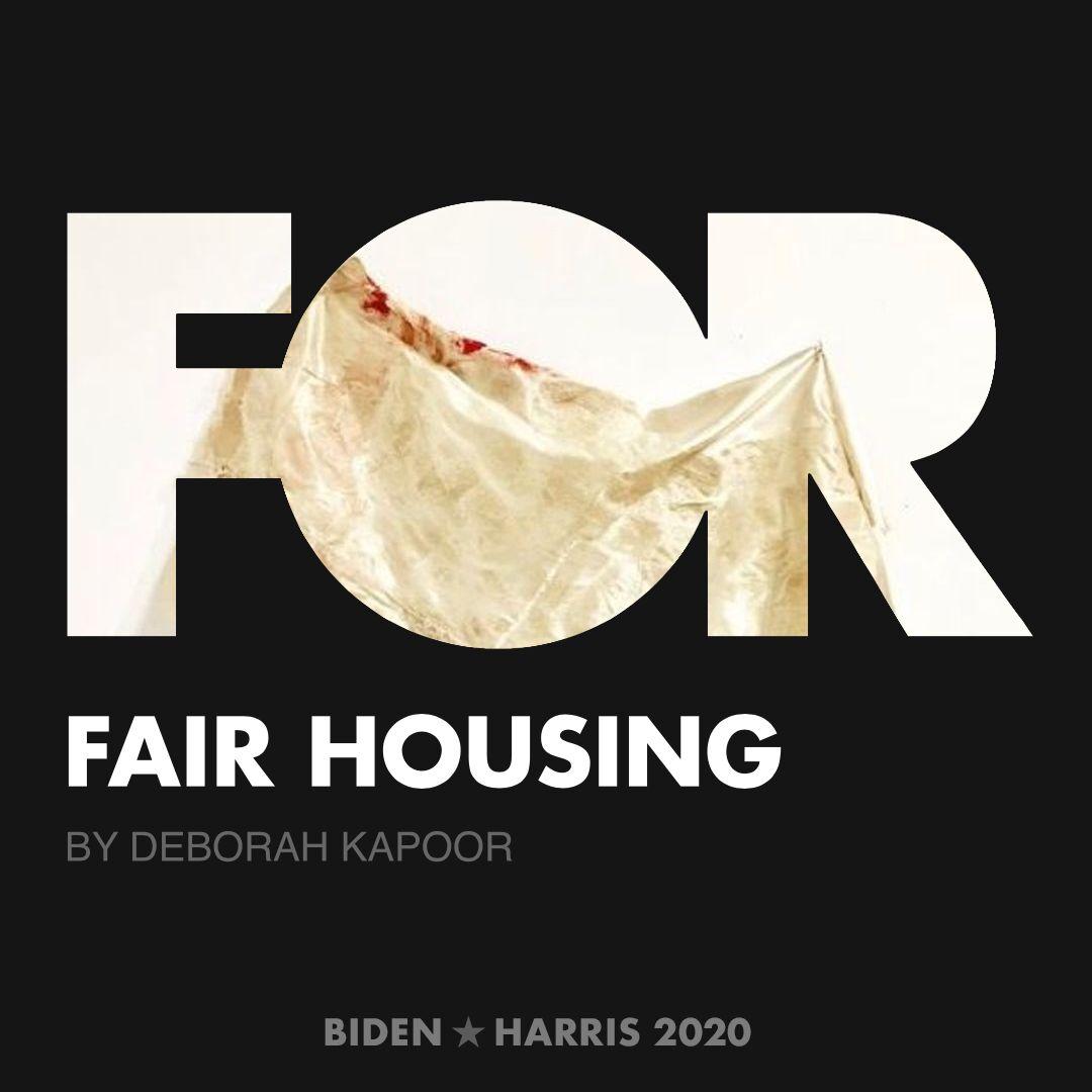 CreativesForBiden.org - Fair Housing artwork by Deborah Kapoor