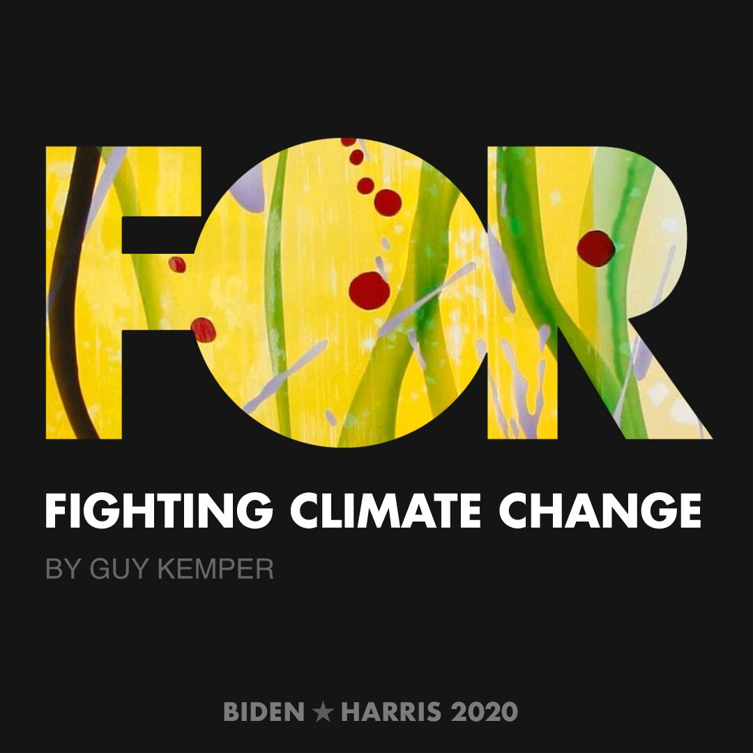 CreativesForBiden.org - Fighting Climate Change artwork by Guy Kemper
