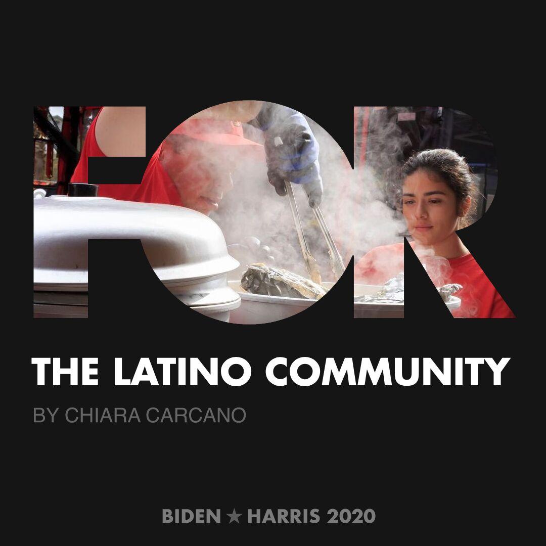 CreativesForBiden.org - The Latino Community artwork by Chiara Carcano