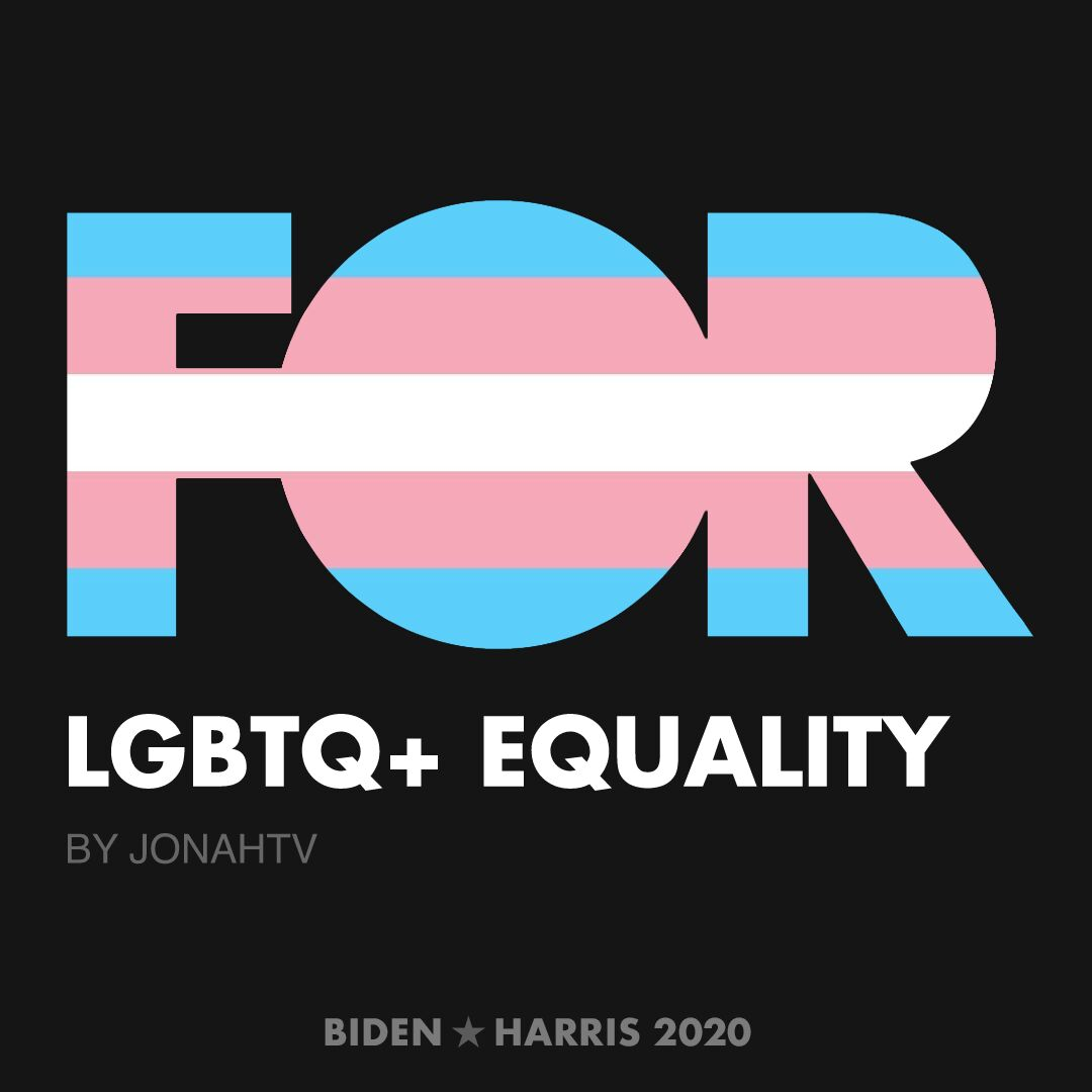 CreativesForBiden.org - LGBTQ+ Equality artwork by jonahtv