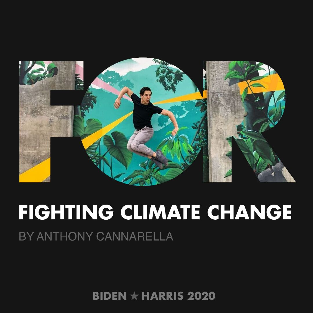 CreativesForBiden.org - Fighting Climate Change artwork by Anthony Cannarella