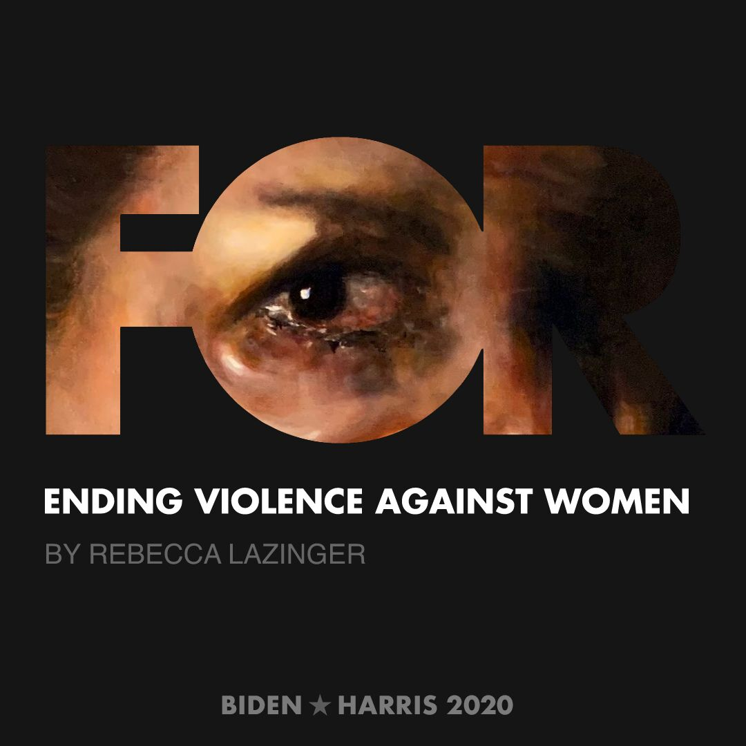 CreativesForBiden.org - Ending Violence Against Women artwork by Rebecca Lazinger