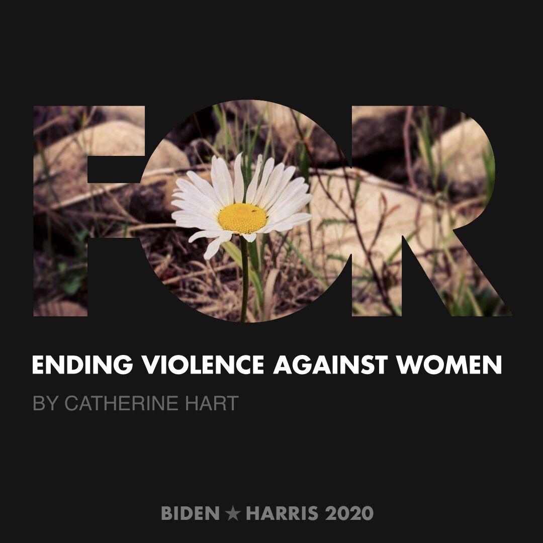 CreativesForBiden.org - Ending Violence Against Women artwork by Catherine Hart