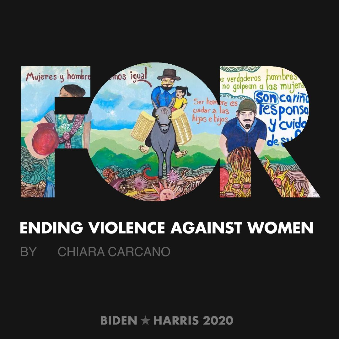 CreativesForBiden.org - Ending Violence Against Women artwork by Chiara Carcano
