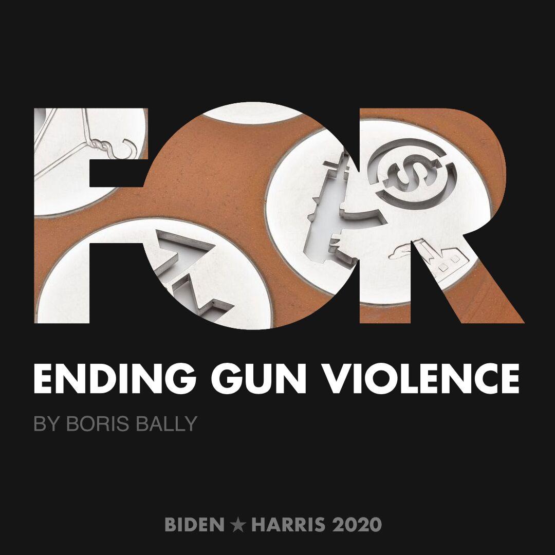 CreativesForBiden.org - Ending Gun Violence artwork by Boris Bally