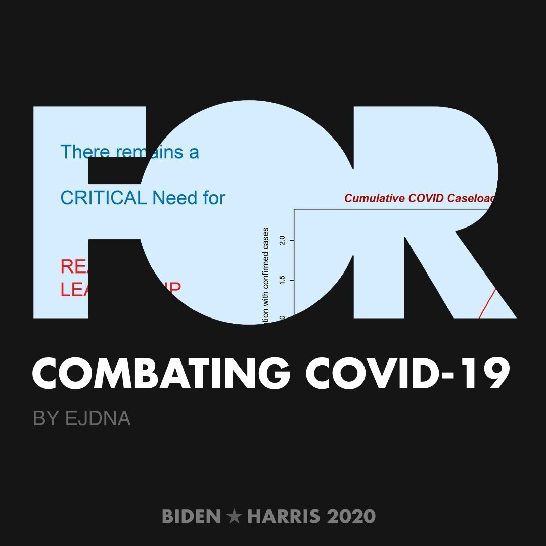 CreativesForBiden.org - Combating COVID-19 artwork by EJDNA